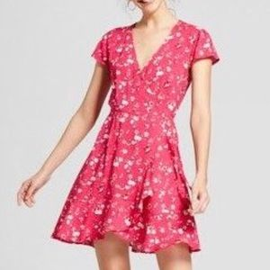 Mossimo | Pink Floral Wrap Dress
